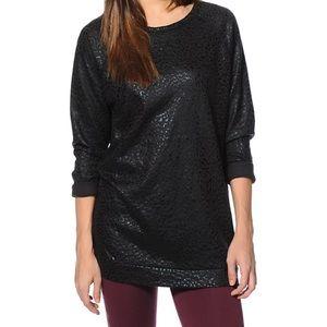 OBEY Leopard Print Black Foil Crew Neck Sweatshirt